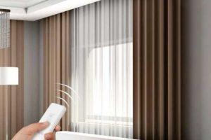 Rèm cửa vải tự động TD01